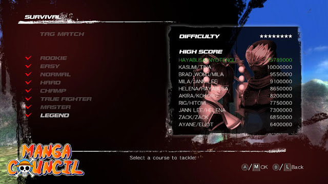 Dead or Alive 5 Last Round Save Data