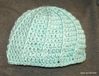 Swirls and Sprinkles: Free crochet ribbed beanie pattern