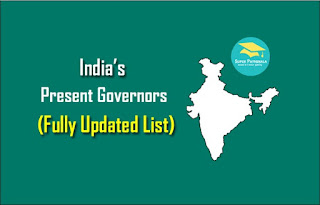 Latest List of Indian Governors