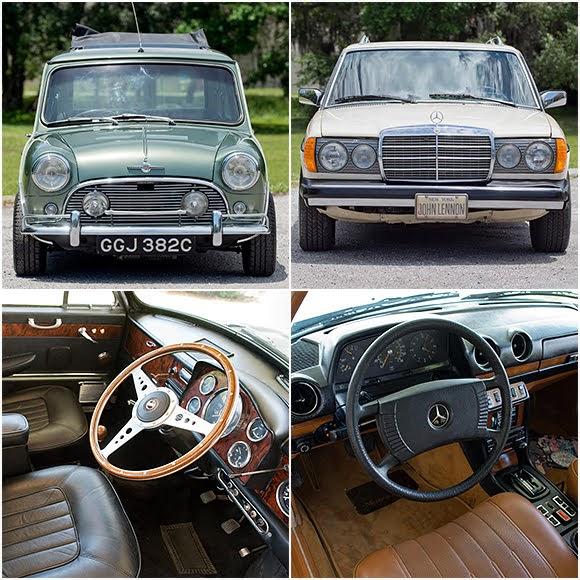 Enchères : la Mini de Paul McCartney et la Mercedes de John Lennon