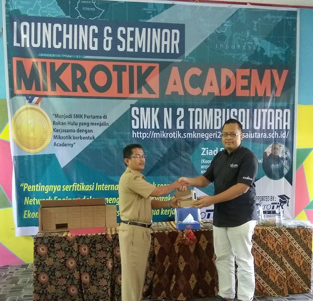 Peresmian dan Workshop Mikrotik Academy SMK Negeri 2 Tambusai Utara Tahun 201721