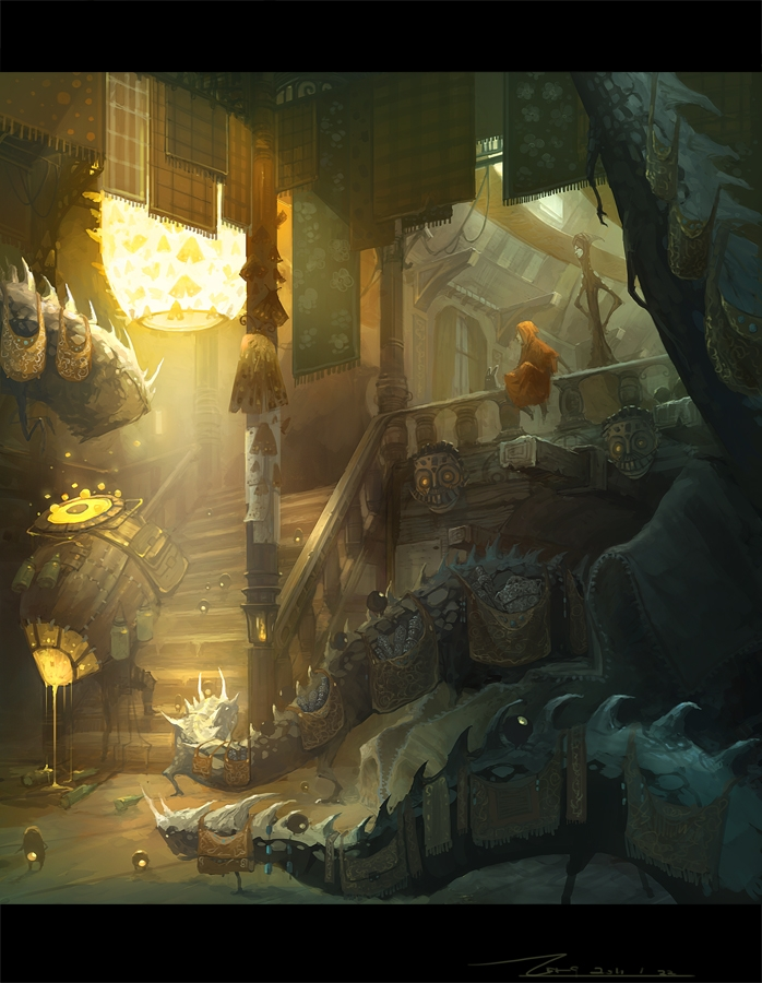 10-Monster-House-ZERG118-Dreams-Made-of-Fantasy-Worlds-and-Creature-Illustrations-www-designstack-co
