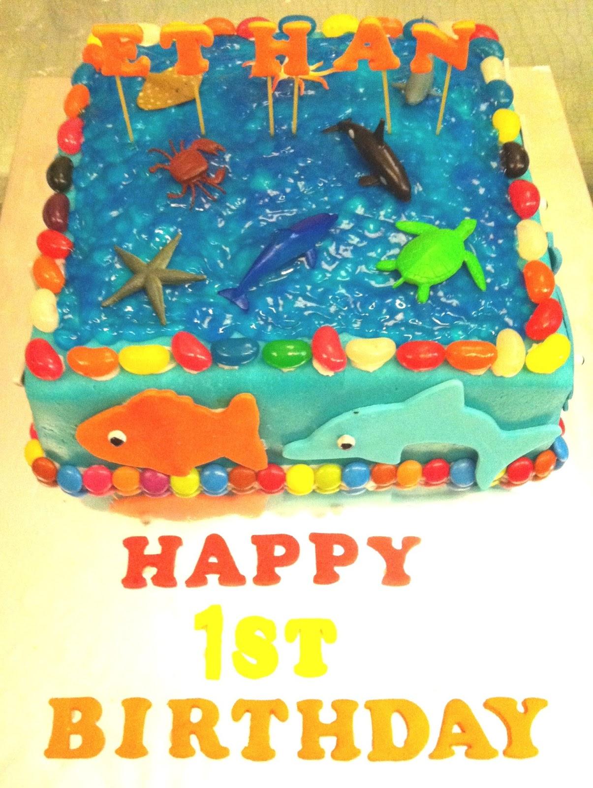 Baking Bees Under The Sea Birthday Cake