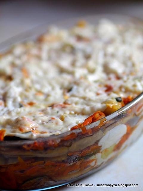 grzybowa musaka, obiad z piekarnika, czasznica olbrzymia, purchawica, grzyby, grzyb, warzywa,