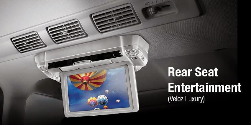 Toyota New Avanza Luxury rear seat entertainment