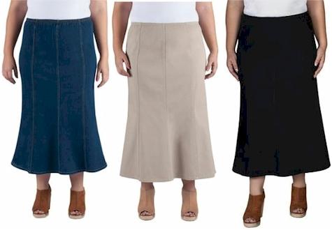 59cc16914 Daily Cheapskate: Just My Size stretch denim skirt for $15.00