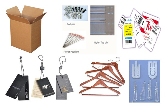 Different type of garment accessories
