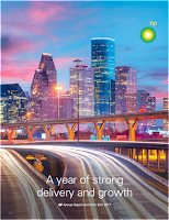 Front page of BP annual 2017 report