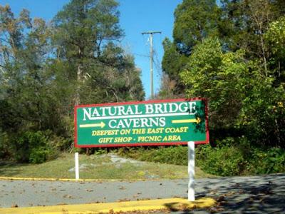 The Natural Bridge Caverns in Virginia