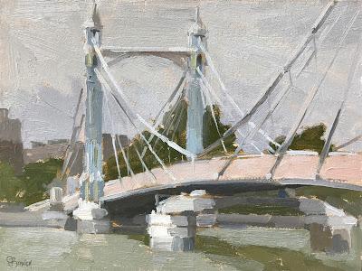 #225 'Albert Bridge, London' 18x24cm