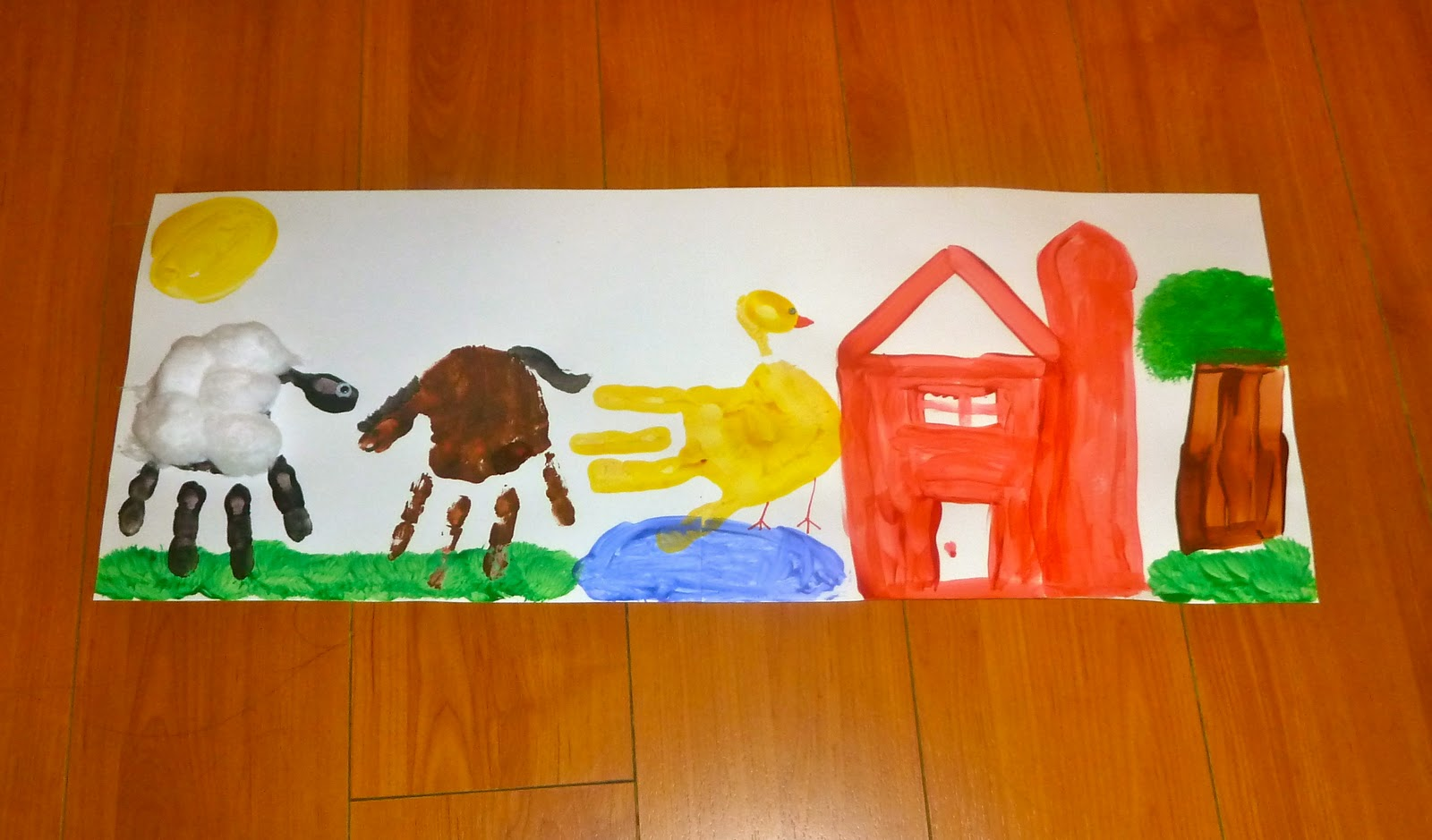 Big Red Barn Amp Handprint Farm Animals