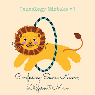Do you know how to deal with records with men of the same name, but you don't know if they are the same man? | #genealogy #familyhistory #genealogymistakes