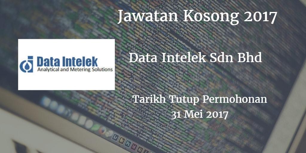 Jawatan Kosong Data Intelek Sdn Bhd 31 Mei 2017