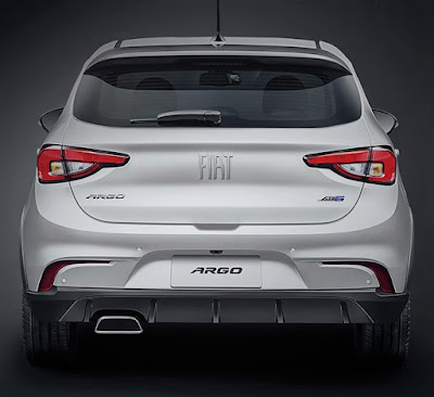 Fiat Argo white rear image