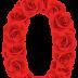 Abecedario de Rosas Rojas. Red Roses Alphabet.
