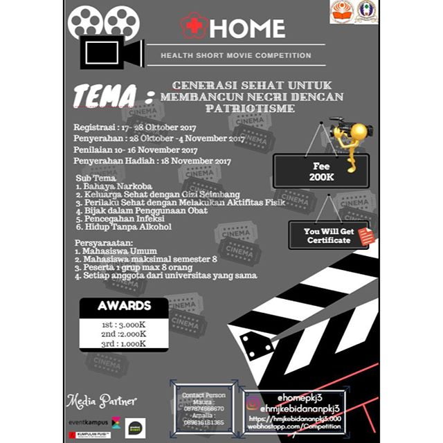 Lomba Short Movie Competition Tingkat Mahasiswa