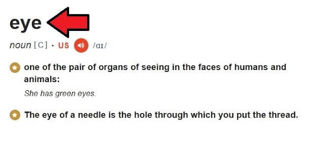 Definisi eye di kamus