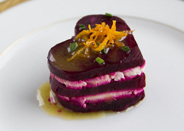 "recipe for beet-and-goat-cheese-heart via ""The Tomato Tart"""