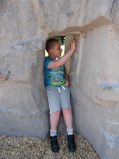 resin climbing rock in park