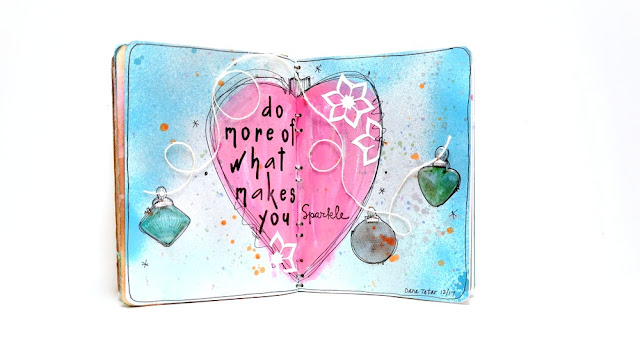 Do-More-Of-What-Makes-You-Sparkle-Crystal-Ornaments-Art-Journal-Spread-by-Dana-Tatar-for-Canvas-Corp-Brands