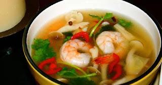 Resep Cara Membuat Soup Udang Kuah Asam Manis yang enak dan lezat