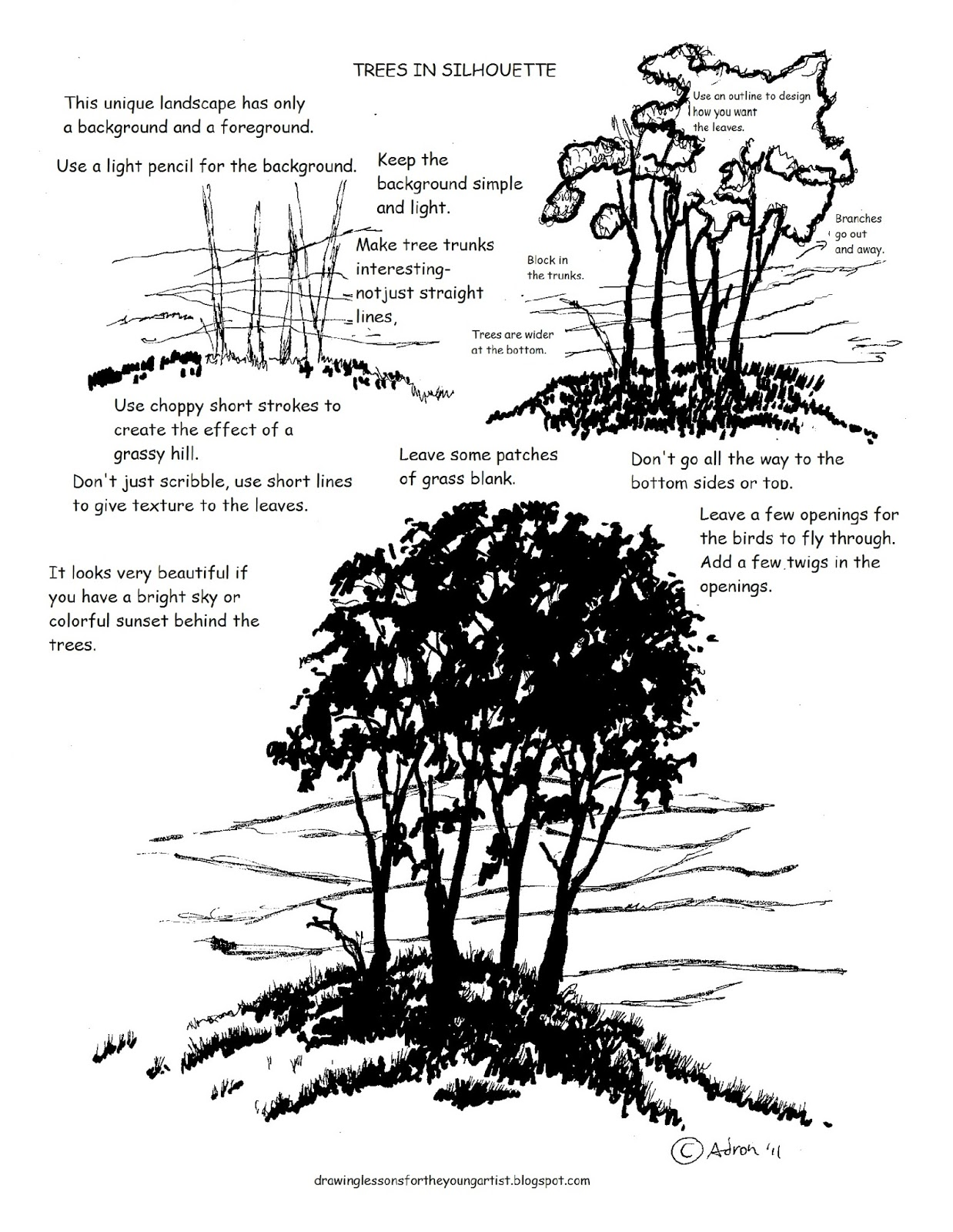 How To Draw Worksheets For The Young Artist Printable How To Draw A