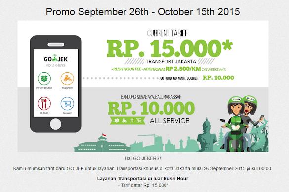 Informasi Penting Nan Menarik Tentang Tarif Gojek - www.go-jek.com/promo.php