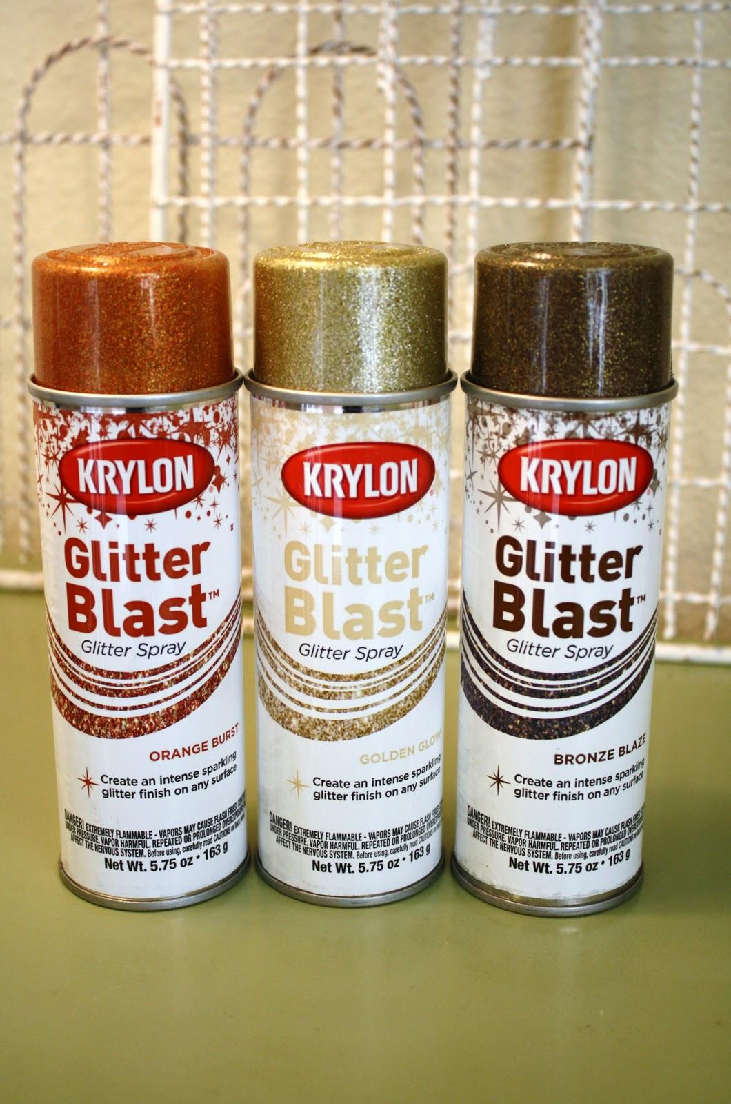 Glitter dryer vent pumpkins for Spray glitter for crafts