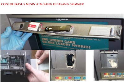 Contoh skimmer - Tips aman bertransaksi di mesin atm