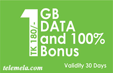 Teletalk 1GB Internet 180tk