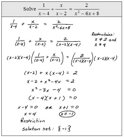 Printables Solving Rational Equations Worksheet openalgebra com solving rational equations