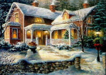 Christmas wallpaper, Free Wallpaper Downloads: 3D Christmas Cottage