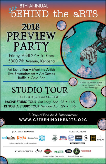 Get Behind The Arts 2018 Open Art Studios in Kenosha and Racine, Wisconsin