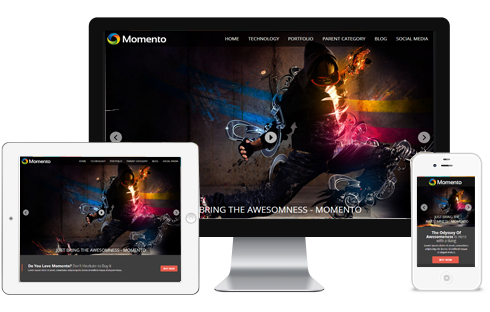 Download Free Momento Blogger Template