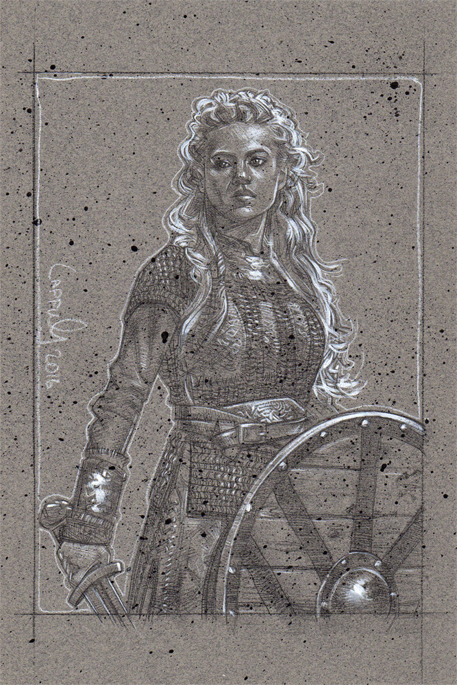 Katheryn Winnick as Lagertha, Artwork© Jeff Lafferty