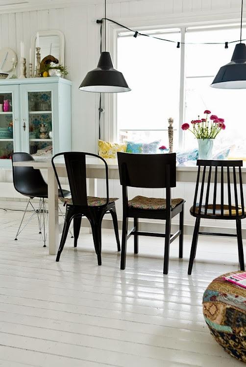 mix and match de sillas negras