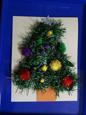 Reljefinis atvirukas - Kalėdų eglutė