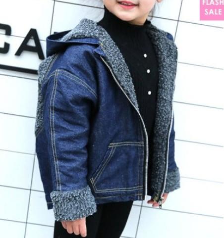 Wool Hooded Zipper Warm Outwear (age 3-11 years old) –price:US$17.74