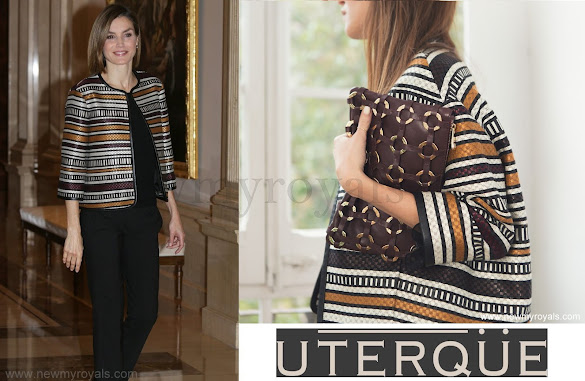 Queen Letizia wore Uterqüe Jacket