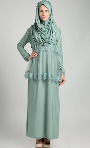 20 Gambar Model Baju Jubah Muslimah Terbaru Dan Terkini
