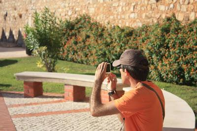 Walls of Faro in Portugal