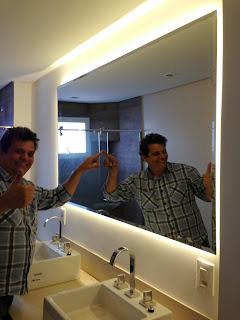 foto de Espelho com led varios modelos e tamanhos