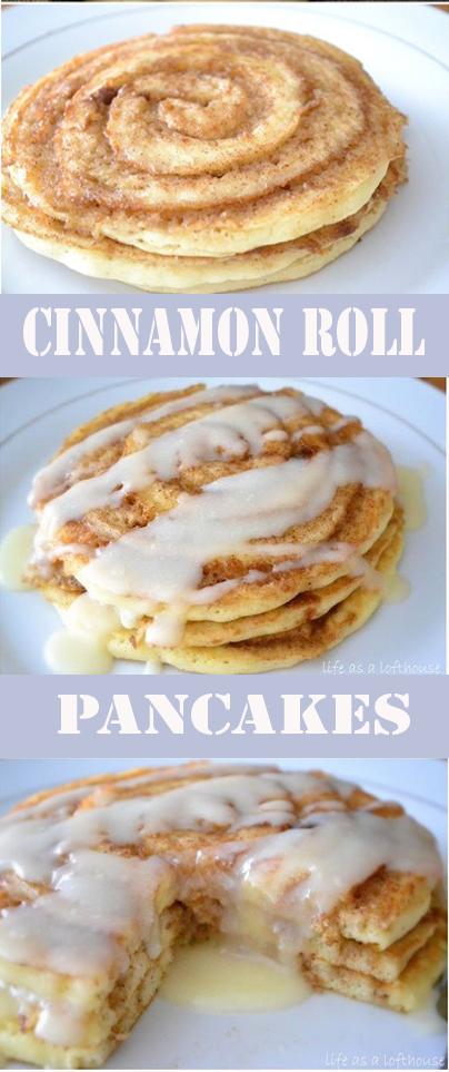 Cinamon Roll Pancakes