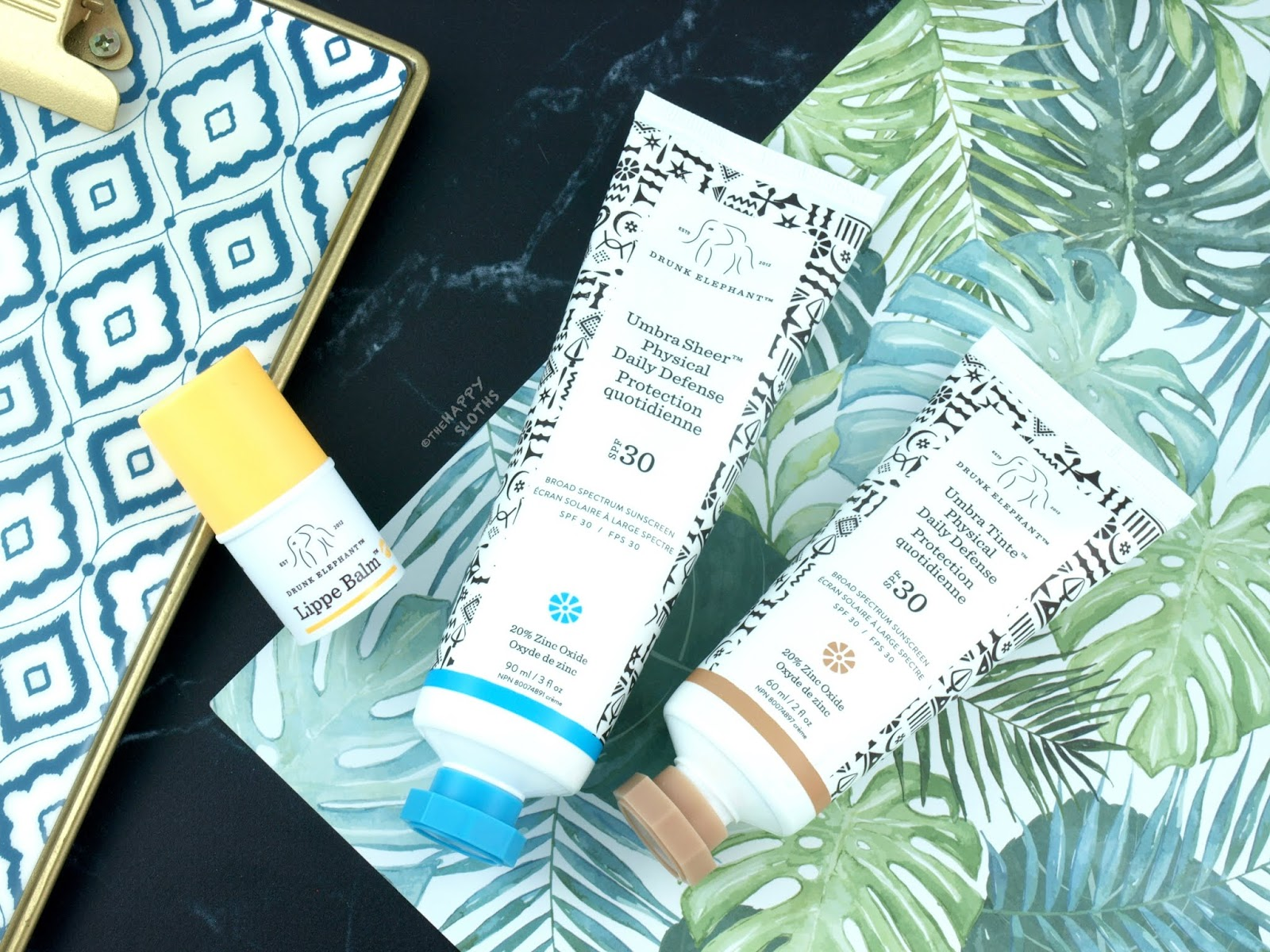 Drunk Elephant | Umbra Sheer Physical Daily Defense SPF 30, Umbra Tinte Physical Daily Defense SPF 30 & Lippe Balm: Review
