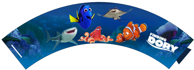 Free Cupcake Wrappers: Finding Dory