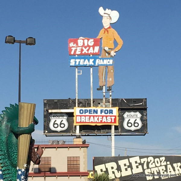 exterior sign at Big Texan Steak Ranch in Amarillo, Texas