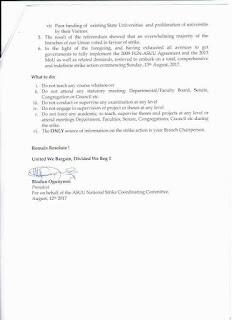 National Asuu strike