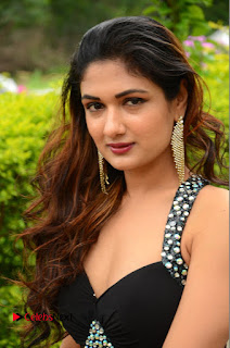 Actress Esha Agarwal  Pictures in Black Long Dress at at Lovers Park Movie Opening  0102