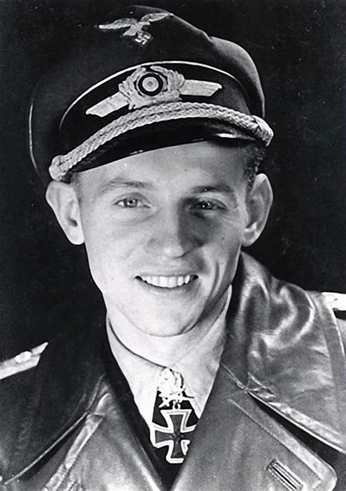 This is Erich Hartmann. Maybe the greatest Luftwaffe pilot of them all. Maybe you can tell from this shot why they called him