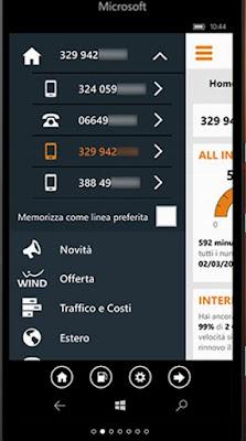 COME SAPERE CREDITO RESIDUO E CONSUMO CONNESSIONE 4G SU WINDOWS PHONE ?